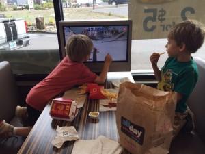 boys playing video